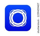 lifebuoy icon digital blue for...   Shutterstock .eps vector #1259459407