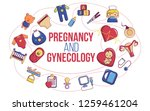 pregnancy and gynecology... | Shutterstock .eps vector #1259461204