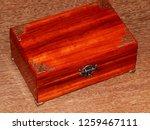 handmade mahogany jewelry box | Shutterstock . vector #1259467111