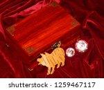 handmade mahogany jewelry box | Shutterstock . vector #1259467117