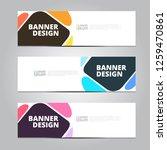 vector abstract design banner... | Shutterstock .eps vector #1259470861