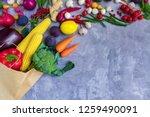paper package of vegan... | Shutterstock . vector #1259490091
