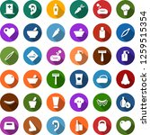 color back flat icon set  ... | Shutterstock .eps vector #1259515354