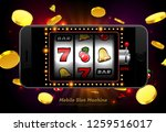 lucky slot machine casino on...   Shutterstock .eps vector #1259516017