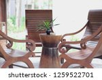 stylish set of furniture for... | Shutterstock . vector #1259522701