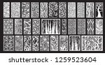 decorative wall panel set | Shutterstock .eps vector #1259523604