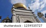 facade of mosque. gold cupola... | Shutterstock . vector #1259535727