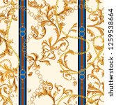 seamless pattern with golden... | Shutterstock .eps vector #1259538664