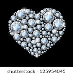 heart of white diamonds.... | Shutterstock . vector #125954045