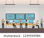 security room in which working... | Shutterstock .eps vector #1259545984
