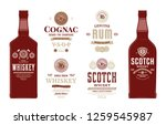 alcoholic drinks labels and... | Shutterstock .eps vector #1259545987