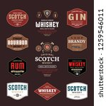 alcoholic drinks labels and... | Shutterstock .eps vector #1259546011