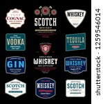alcoholic drinks labels and... | Shutterstock .eps vector #1259546014
