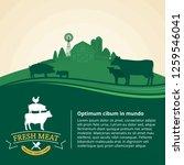 vector farm fresh meat... | Shutterstock .eps vector #1259546041