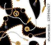 seamless pattern with chains ... | Shutterstock .eps vector #1259546317