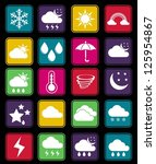 weather effect simple icon | Shutterstock .eps vector #125954867
