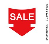sale icon vector flat design... | Shutterstock .eps vector #1259555401