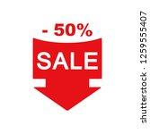 sale icon vector flat design... | Shutterstock .eps vector #1259555407
