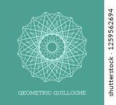 circular guilloche decorative... | Shutterstock .eps vector #1259562694