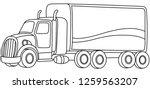 outlined cartoon truck. vector... | Shutterstock .eps vector #1259563207