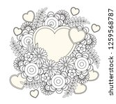 floral heart. valentines day... | Shutterstock .eps vector #1259568787