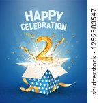 two years anniversary and open... | Shutterstock .eps vector #1259583547