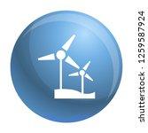 wind turbine icon. simple... | Shutterstock . vector #1259587924