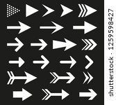 arrow icon set for website.... | Shutterstock . vector #1259598427