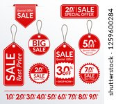price tag set. sale and... | Shutterstock .eps vector #1259600284