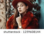 outdoor close up fashion... | Shutterstock . vector #1259608144