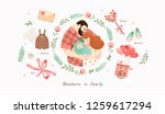 cute illustration of a happy...   Shutterstock .eps vector #1259617294