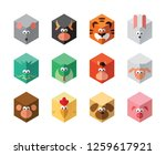 chinese zodiac isometric icon...   Shutterstock .eps vector #1259617921