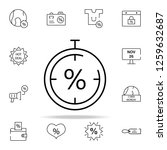 stopwatch discount icon. cyber... | Shutterstock . vector #1259632687