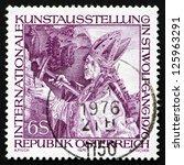 austria   circa 1976  a stamp... | Shutterstock . vector #125963291