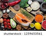 healthy food clean eating... | Shutterstock . vector #1259653561