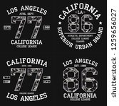 set of los angeles graphic... | Shutterstock .eps vector #1259656027