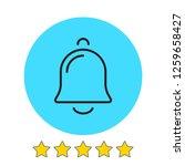 bell icon vector illustration....