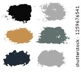 black brush strokes set... | Shutterstock .eps vector #1259676541