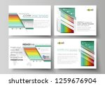 set of business templates for... | Shutterstock .eps vector #1259676904