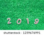 happy new year with copy space... | Shutterstock . vector #1259676991