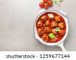 homemade meatballs with tomato... | Shutterstock . vector #1259677144