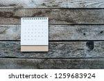 calendar january 2019 on old...   Shutterstock . vector #1259683924