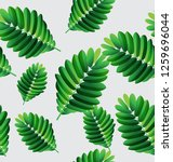 tropical  leaves vector... | Shutterstock .eps vector #1259696044