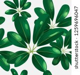seamless foliagel pattern with... | Shutterstock .eps vector #1259696047