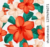 seamless floral pattern with... | Shutterstock .eps vector #1259696071