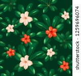 seamless floral pattern with... | Shutterstock .eps vector #1259696074