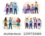sets of scenes at office.... | Shutterstock .eps vector #1259733484