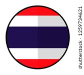 flag thailand   flat style... | Shutterstock .eps vector #1259734621