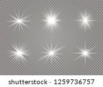 star explodes on transparent... | Shutterstock .eps vector #1259736757