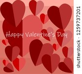 happy valentine's day | Shutterstock .eps vector #1259737201